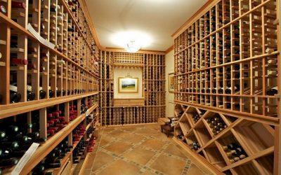 A wine cellar at 727 County Line Road, for sale in Villanova.