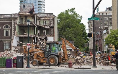 building collapse day after