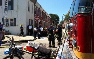 row house collapse scene