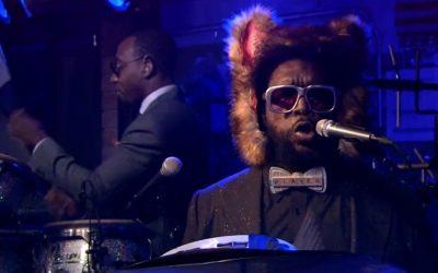 Questlove as the Fox with Ylvis on Jimmy Fallon