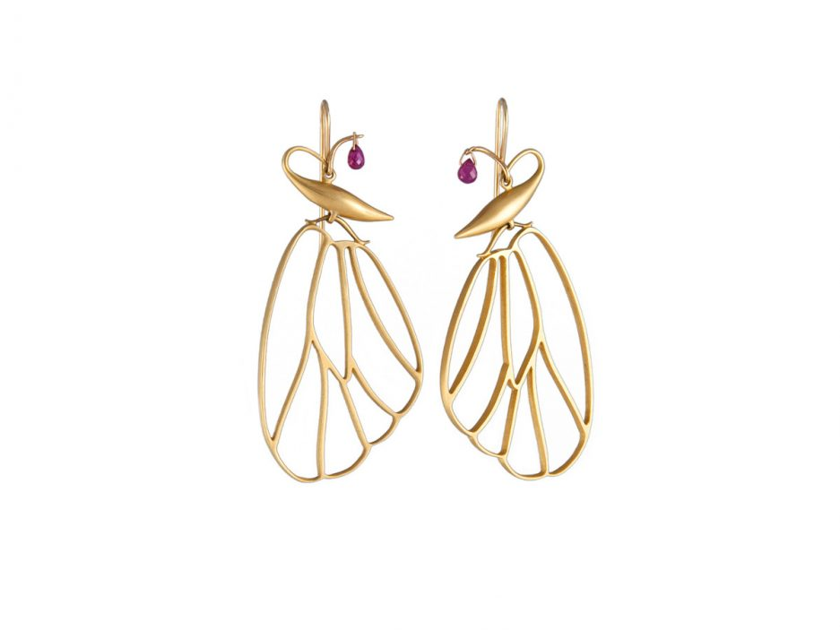 Gabriella Kiss Erfly Cell Earrings In 18k Gold With Rubies 2 640 These Explain To A T And Are Exactly Why I Love Her