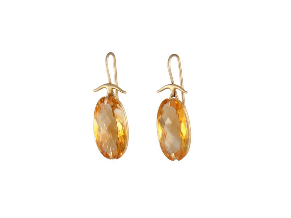 Gabriella Kiss Faceted Oval Citrine Earrings 1 320 I Love These For Their Elegance Sparkle And Bright Hue