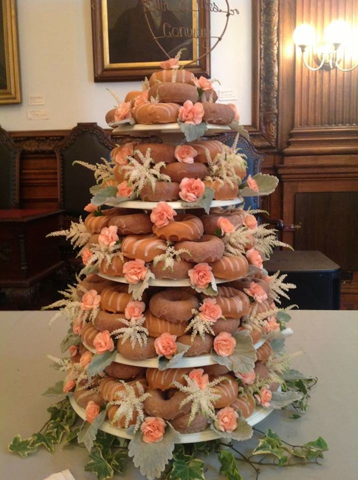 Donut Wedding Cake.We Re Obsessed It S A Federal Donuts Wedding Cake