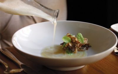 Grilled maitake Nick Elmi's Laurel Restuarant