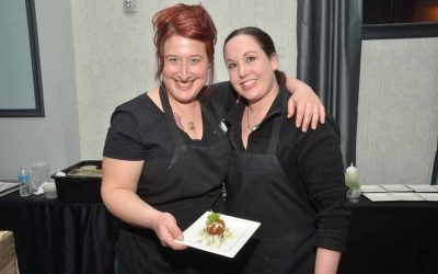 From left: Laura Frangiosa, co-owner and proprietress of the Avenue Delicatessen, and Maureen Stoebenau.