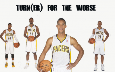 Former 76er Evan Turner with the Pacers