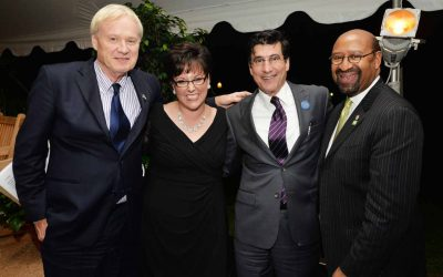 From left: Chris Matthews, MSNBC, Kathryn Ott Lovell, Michael DiBerardinis, Deputy Mayor of the Department of Parks and Recreation, and Mayor Michael Nutter.