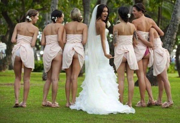 Women showing their ass