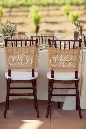PHOTOS: Our 10 Favorite Mr. & Mrs. Chair Signs From Etsy ...
