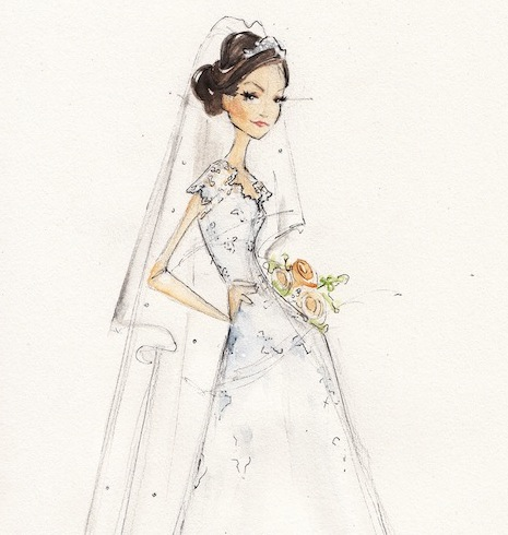 Local Bridal Guide: 5 Philly-Area Illustrators Who Can Do a Sketch ...