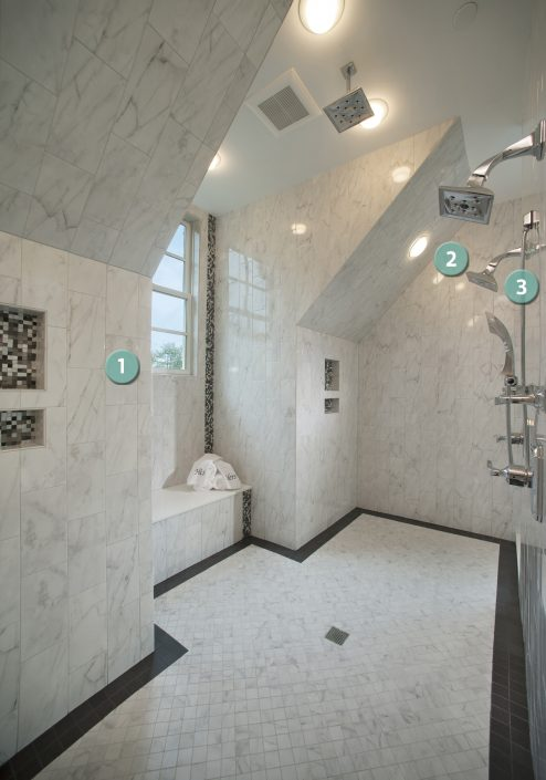 Second Floor Master Bathroom Philadelphia Magazine - 6 x 12 white porcelain tile