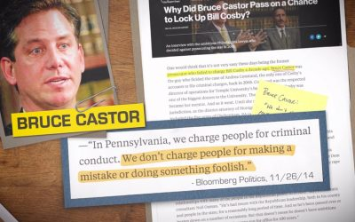 Kevin Steel's attack ad against Bruce Castor - screengrab