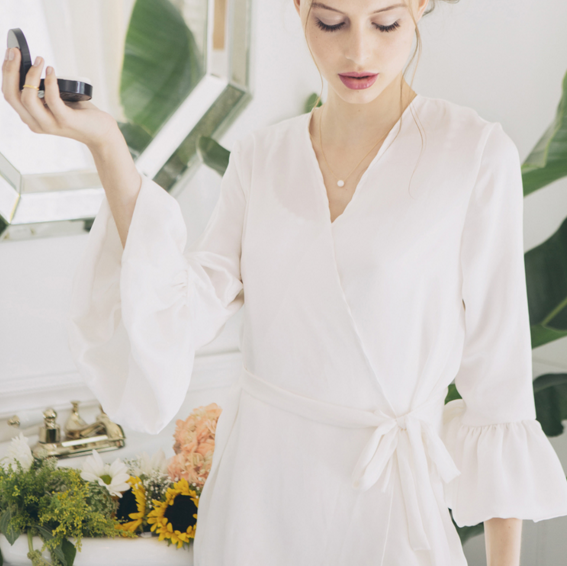 Find This Ruffle Sleeved Robe Here