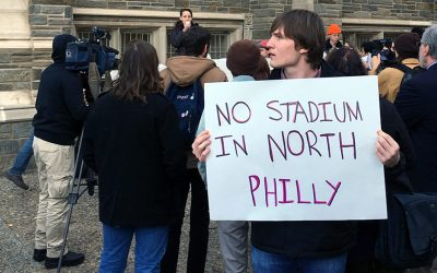 15 Now protesters - Temple - North Philly stadium