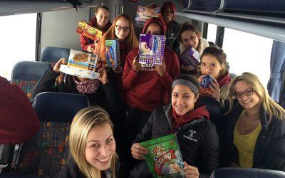 Members of the Temple women's gymnastics team stuck on Pennsylvania turnpike