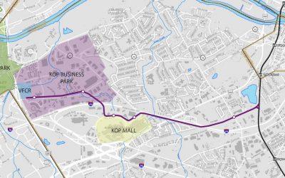 SEPTA locally preferred alternative map