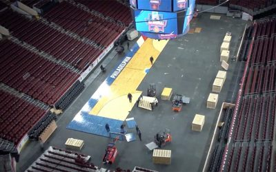 Wells Fargo Center court time lapse NCAA tournament