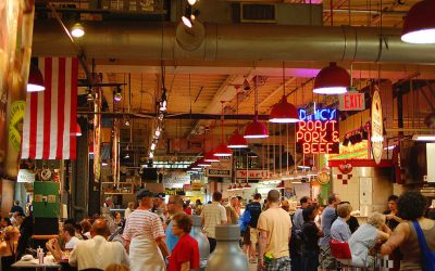 reading terminal market, wine and liquor kiosks