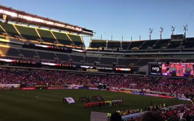 Chile soccer fans - Lincoln Financial Field