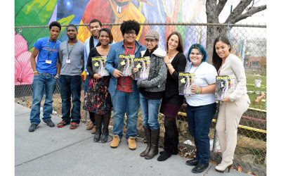 The Motivos teams at Taller Puertorriqueño's Meet the Author series. Courtesy of Jenée Chizick-Agüero