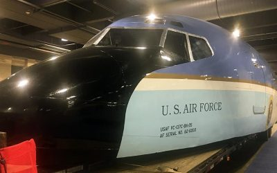 Air Force One replica at the Pennsylvania Convention Center