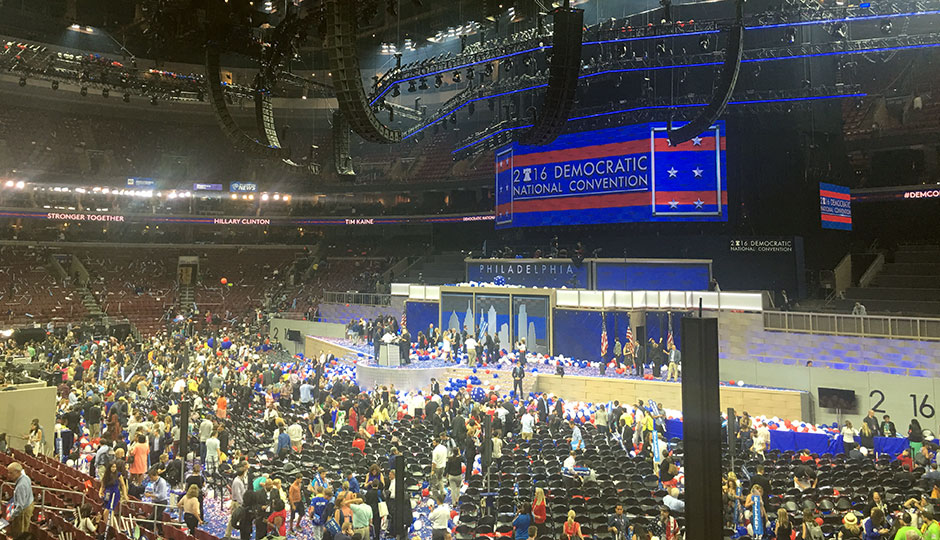 Democratic National Convention at Wells Fargo Center - end