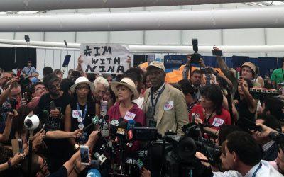 Susan Sarandon, Danny Glover at a DNC press conference