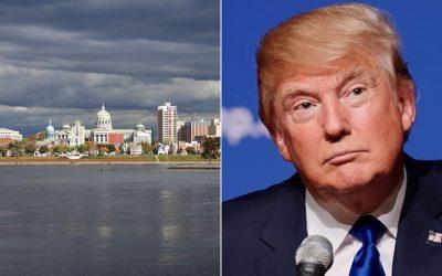 City of Harrisburg / Donald Trump split photo