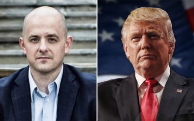 Evan McMullin (left); Donald Trump