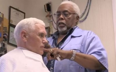 Mike Pence gets a haircut