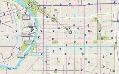 Philly Bike Map Courtesy of the Philadelphia City Planning Commission