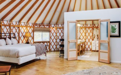 Fall Weekend Getaways: Inside a yurt at Savage River Lodge