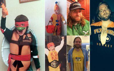 Dan McQuade, in various Halloween costumes