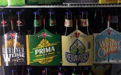 Six packs of Victory beers