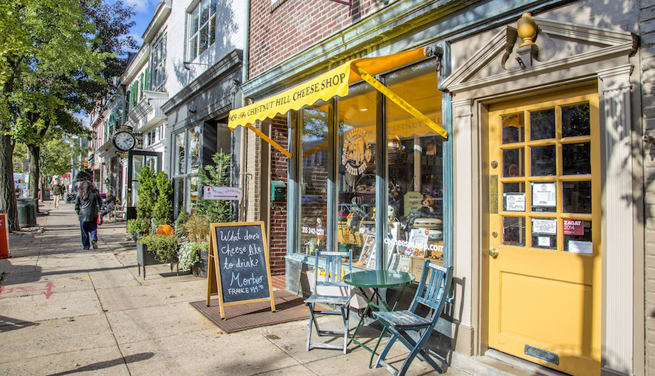 Green space and a village-like vibe together make Chestnut Hill distinctive among Philly neighborhoods. A panel discussion on April 21 will examine how it can maintain its distinctive character while accommodating growth and change. | Photo: Herb Engelberg/The Sivel Group