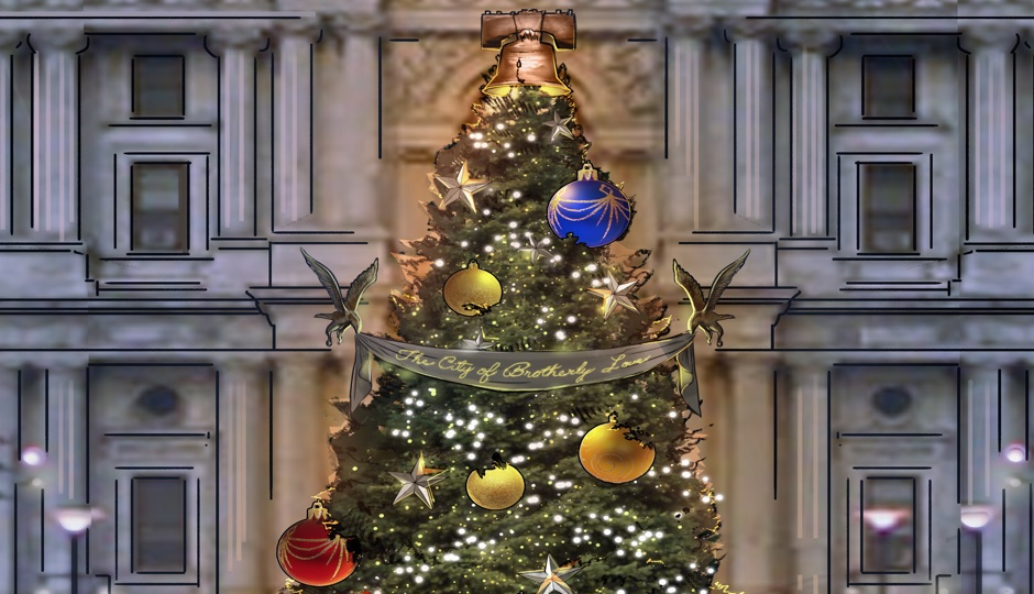 hamilton set designer is decorating the city hall christmas tree