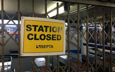 SEPTA 15th Street Station closed - locked gate