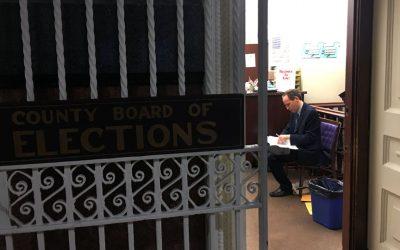 Jill Stein lawyer in County Board of Elections office