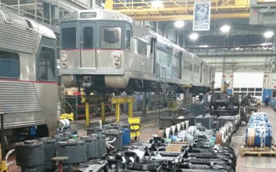 PATCO trains being repaired