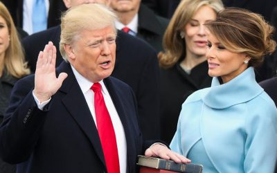 Donald Trump sworn into office
