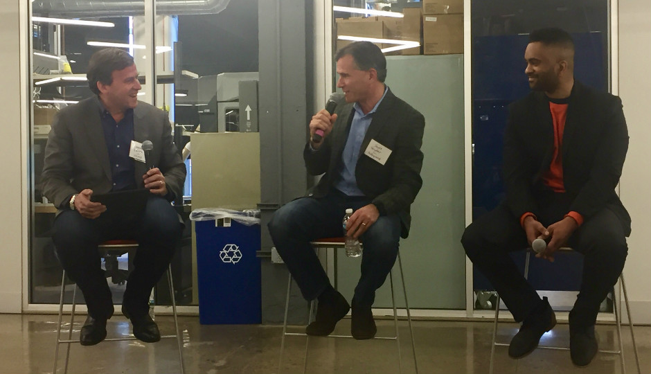 L to R: Nate Lentz, Osage Venture Partners managing director; Scott Snyder, Safeguard Scientifics chief technology and innovation officer; and Jonas Cleveland, COSY founder and CEO.