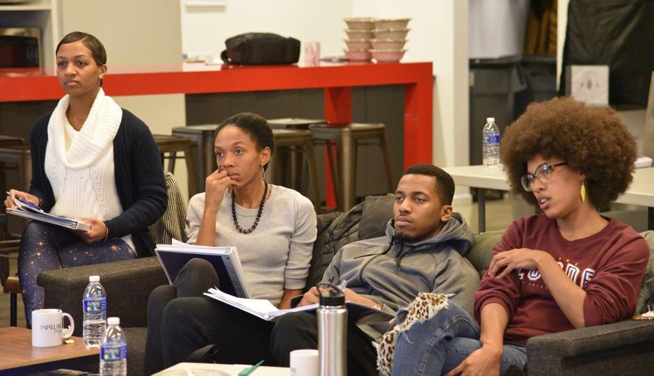 L to R: IHHE students Amira Smith, Keira Stevenson, Ben Barnes-McGee, and Chantelle Bateman.