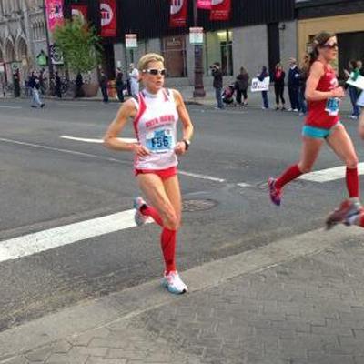 Cecily Tynan running the Broad Street Run   Photo via Facebook