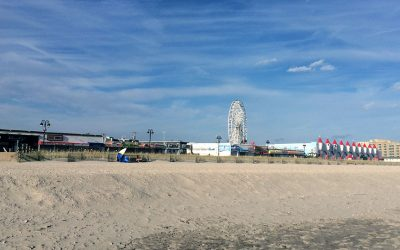 Ocean City beach and boardwalk
