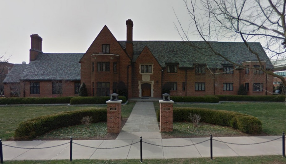 Penn State's Beta Theta Pi fraternity house via Google Maps