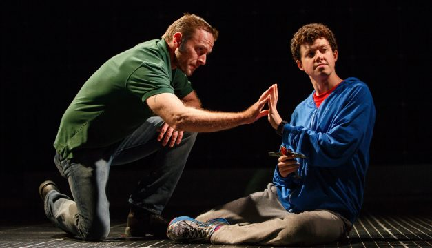 Gene Gillette and Adam Langdon in The Curious Incident of the Dog at the Academy of Music.  (Photo by  Joan Marcus)