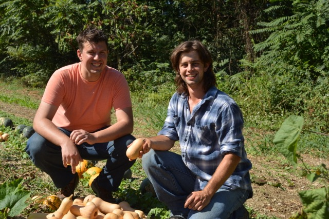 Eckerd is on the left, with good friend Alex Wenger from The Field's Edge Research Farm on the right