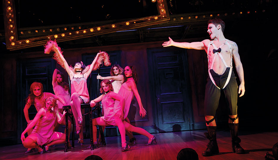 The touring cast of the Tony-Winning Broadway production of Cabaret. Photo via Dana SOHM.