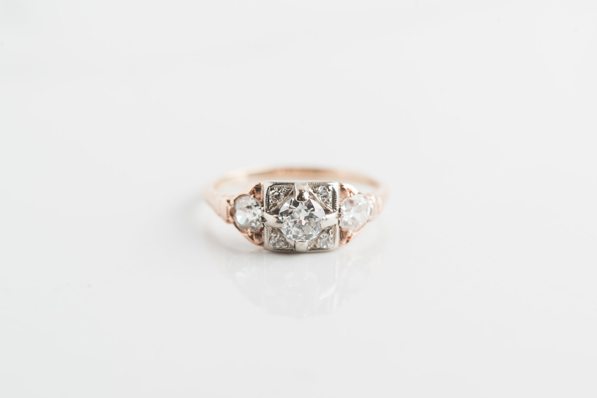 One of the engagement rings in Lauren Priori's expanded antique collection. All photos by Brittani Elizabeth Photography.