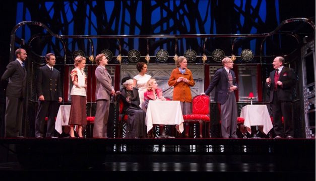 The Cast of Murder on the Orient Express at McCarter Theatre Center. (Photo by T Charles Erickson)